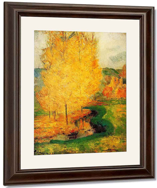 By The Stream, Autumn By Paul Gauguin By Paul Gauguin