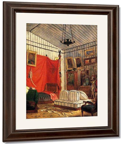 Count De Mornay's Apartment By Eugene Delacroix By Eugene Delacroix