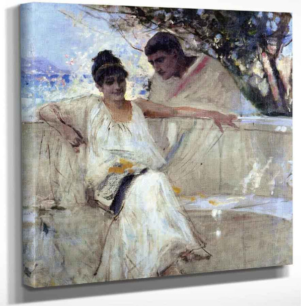 Horace And Lydia By Albert Edelfelt Art Reproduction