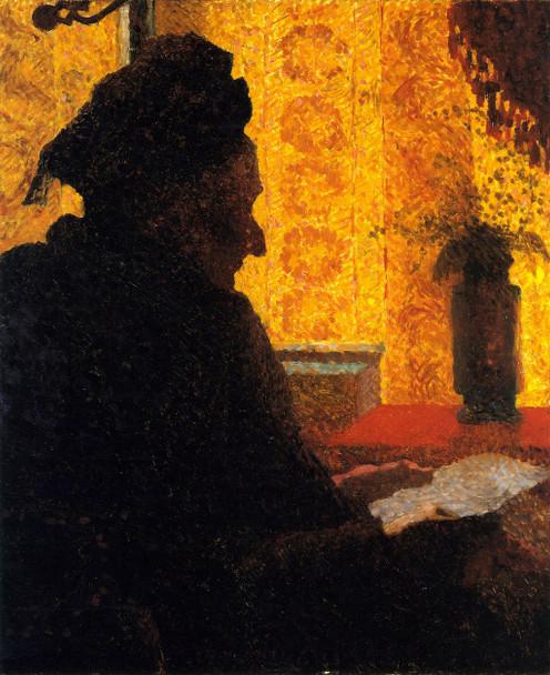 Grandmother Michaud In Silhouette By Edouard Vuillard