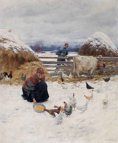 In The Barnyard1 By Charles Courtney Curran By Charles Courtney Curran