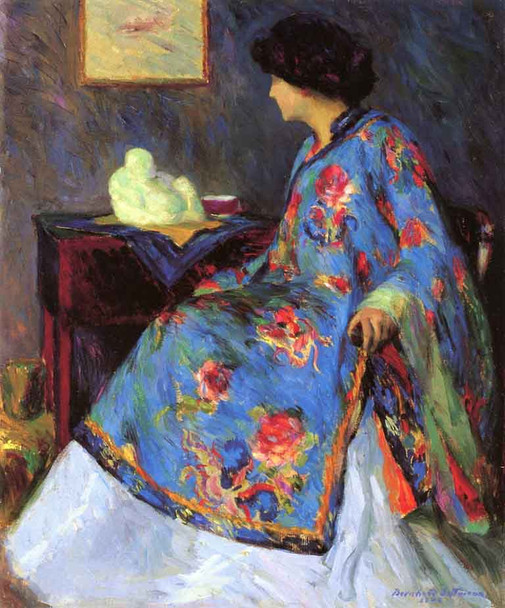 Lady In Chinese Silk Jacket By Bernhard Gutmann