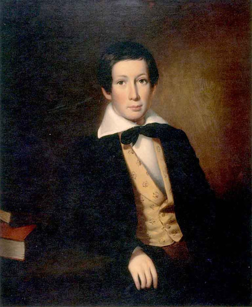 Portrait Of A Young Man By William Tylee Ranney