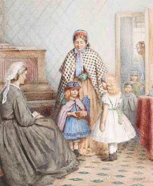 The Gift By George Goodwin Kilburne By George Goodwin Kilburne