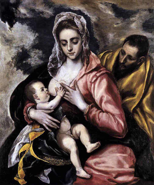The Holy Family By El Greco By El Greco