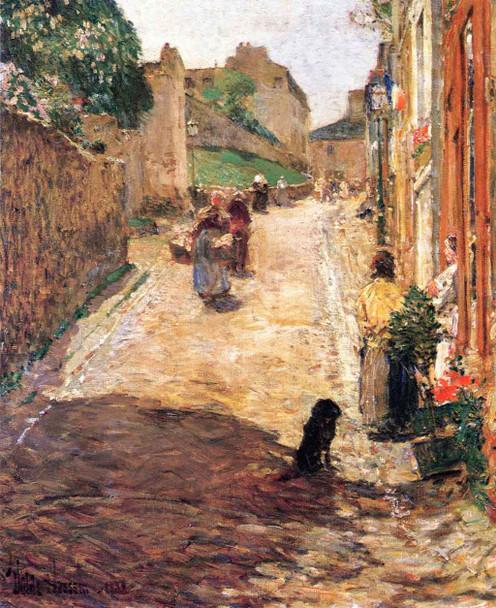 Village Street Scene, France By Frederick Childe Hassam By Frederick Childe Hassam
