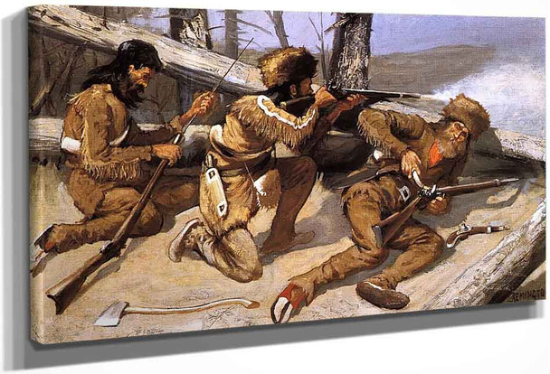 A Brush With The Redskins By Frederic Remington