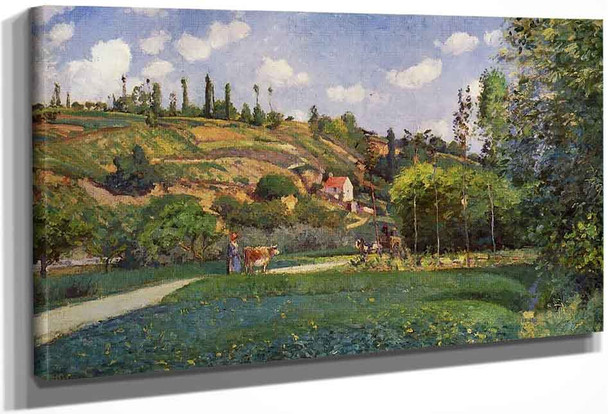 A Cowherd On The Route De Chou, Pontoise By Camille Pissarro