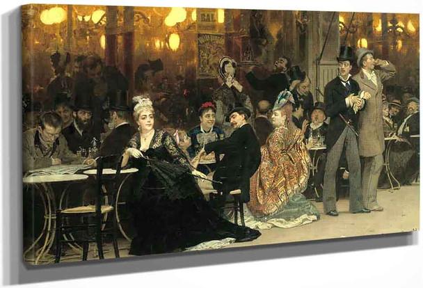 A Parisian Cafe By Ilia Efimovich Repin