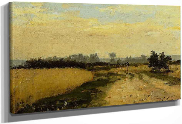 A Road In The Countryside By Stanislas Lepine