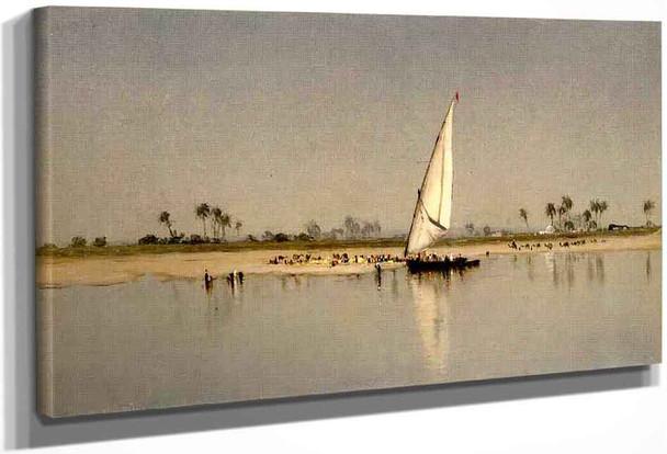 A Sketch On The Nile By Sanford Robinson Gifford