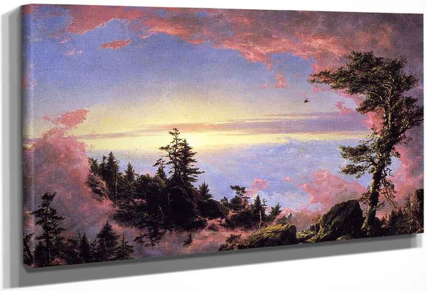 Above The Clouds At Sunrise By Frederic Edwin Church By Frederic Edwin Church