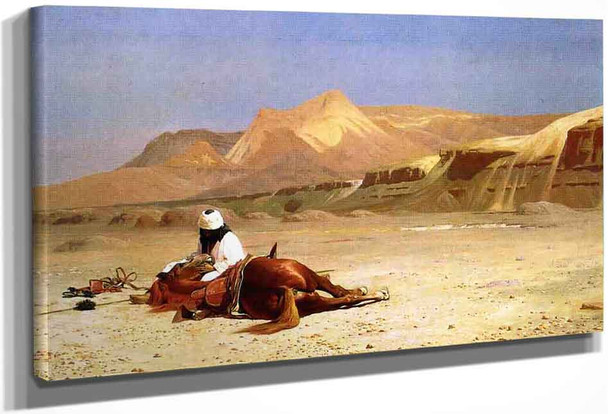 An Arab And His Horse In The Desert By Jean Leon Gerome