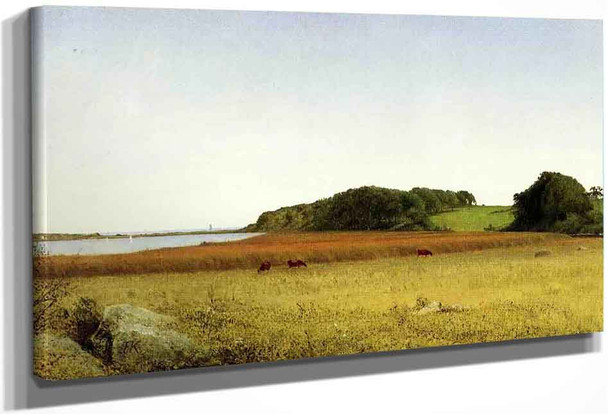 An Inlet Of Long Island Sound By John Frederick Kensett By John Frederick Kensett