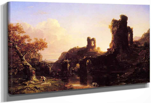 An Italian Autumn By Thomas Cole By Thomas Cole