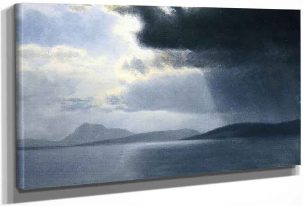 Approaching Thunderstorm On The Hudson River By Albert Bierstadt