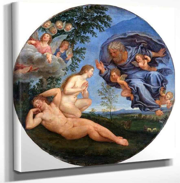The Creation Of Eve By Francesco Albani Art Reproduction