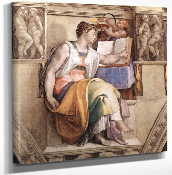 The Erythraean Sibyl By Michelangelo Buonarroti Art Reproduction
