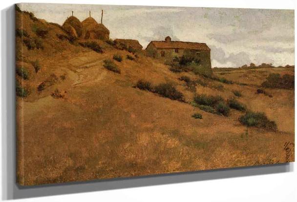 Between Perugia And Gubbio By Elihu Vedder