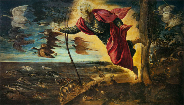 Creation Of The Animals By Jacopo Tintoretto