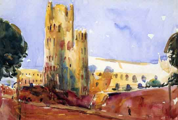 Ely Cathedral By Charles W. Hawthorne
