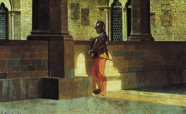 Gallery With Armor Bearer By Giuseppe Abbati By Giuseppe Abbati