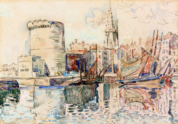 La Rochelle3 By Paul Signac