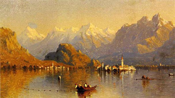 Lake Maggiore By Sanford Robinson Gifford