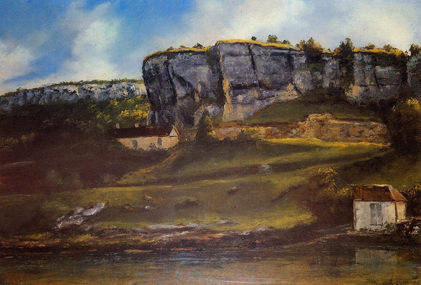 Landscape Of The Ornans Region By Gustave Courbet