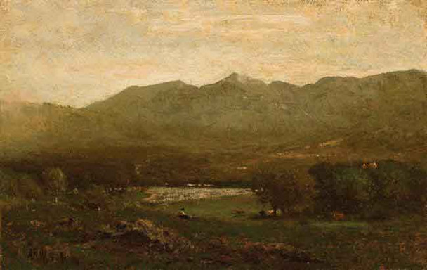 Mount Mansfield From New York By Alexander Helwig Wyant