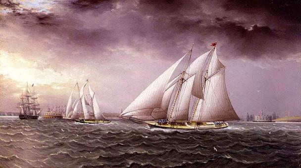 Schooner In Stormy Seas1 By James E. Buttersworth