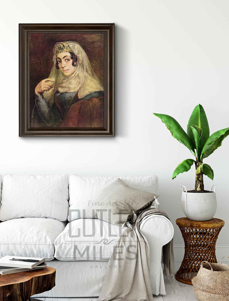 A Portrait Of A Georgian Woman By Vasily Tropinin
