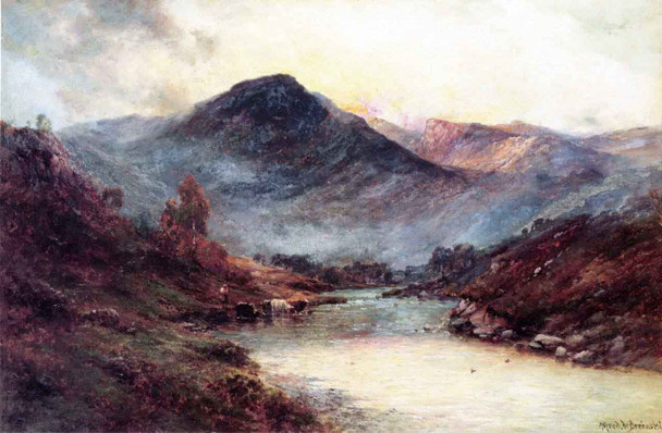Sunset In The Highlands By Alfred De Breanski, Sr.