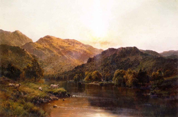 The Valley Of Bettws By Alfred De Breanski, Sr.