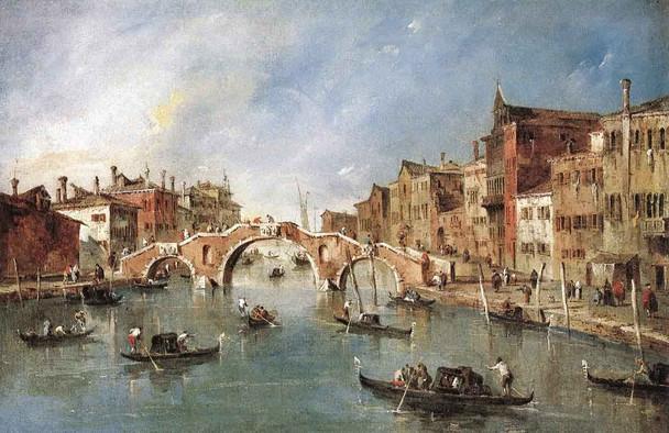 View On The Cannaregio Canale, Venice By Francesco Guardi