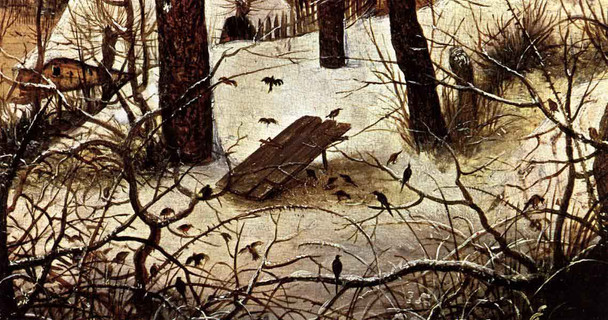 Winter Landscape With Skaters And A Bird Trap 2 By Pieter Bruegel The Elder By Pieter Bruegel The Elder