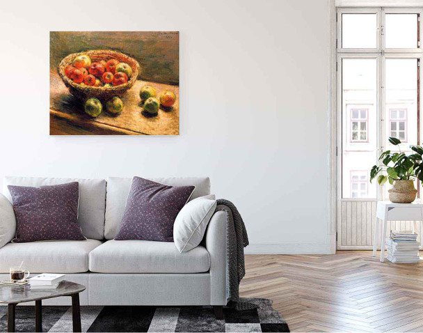A Basket Of Apples By Claude Oscar Monet