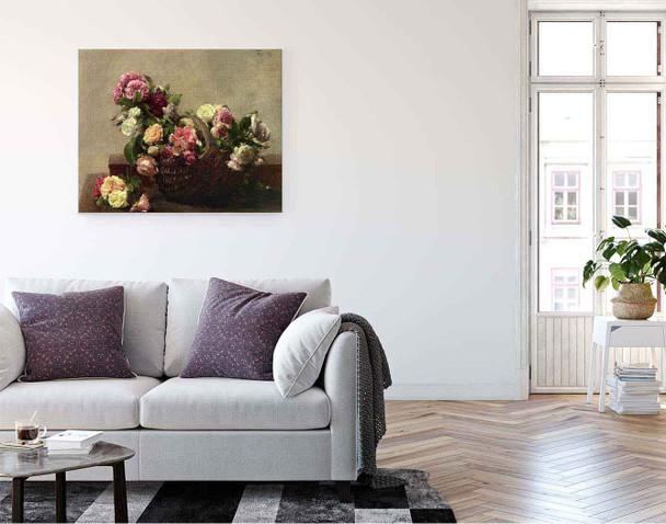 Basket Of Roses By Henri Fantin Latour By Henri Fantin Latour