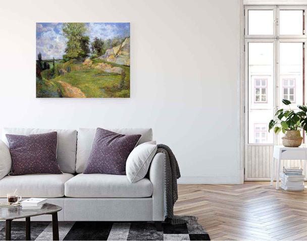 Chou Quarries At Pontoise Ii By Paul Gauguin  By Paul Gauguin
