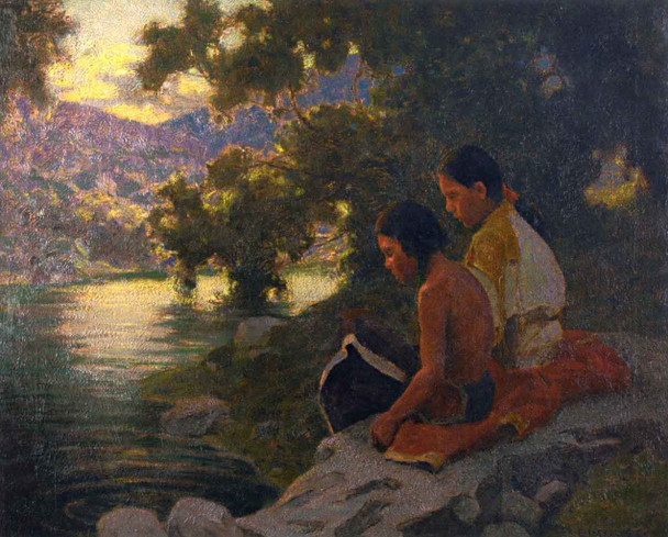 Evening Reverie By E. Irving Couse