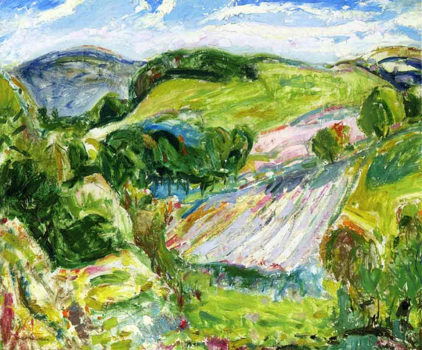 Fields By Alfred Henry Maurer By Alfred Henry Maurer