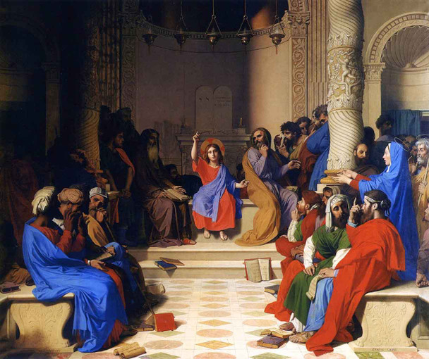 Jesus Among The Doctors By Jean Auguste Dominique Ingres  By Jean Auguste Dominique Ingres