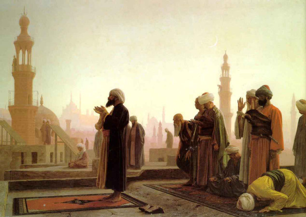 Prayer On The Housetops By Jean Leon Gerome  By Jean Leon Gerome