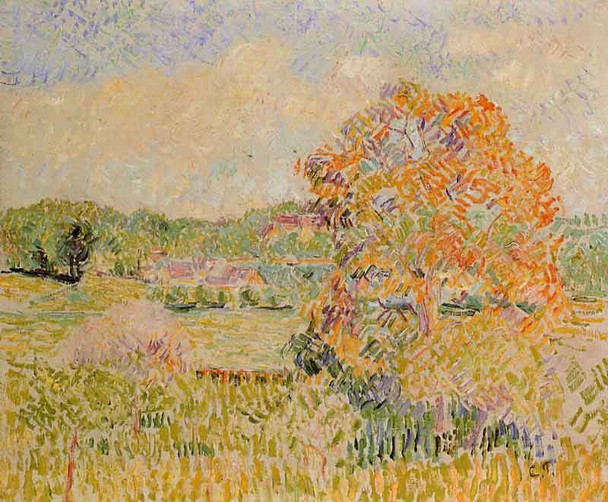 Springtime At Eragny  By Camille Pissarro By Camille Pissarro