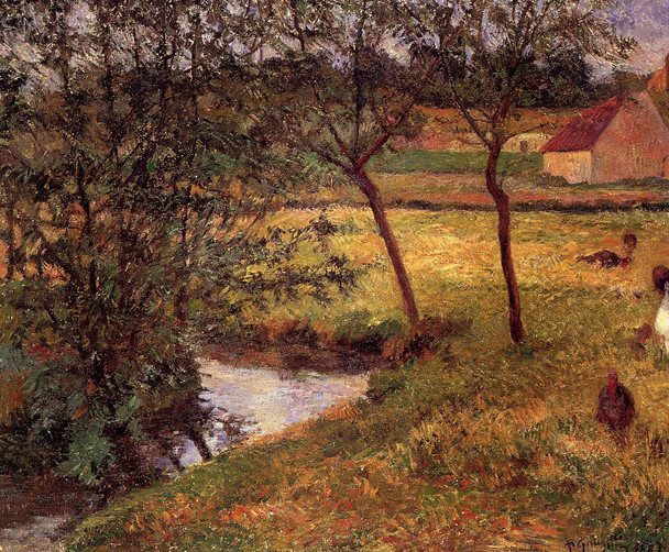 Stream, Osny By Paul Gauguin  By Paul Gauguin