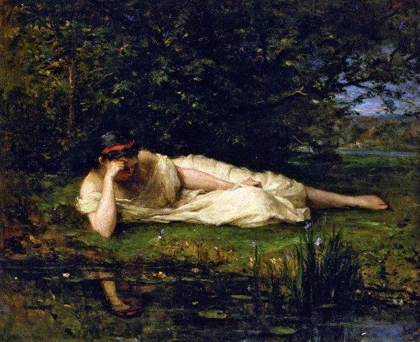 Study The Water's Edge By Berthe Morisot