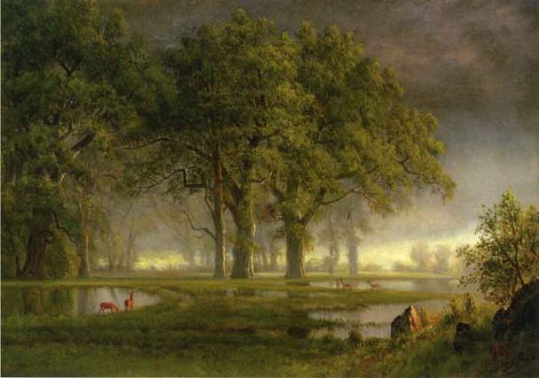 Sunglow By Albert Bierstadt By Albert Bierstadt