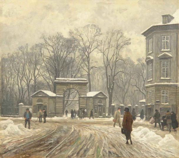 Winter's Day By Paul Gustave Fischer By Paul Gustave Fischer