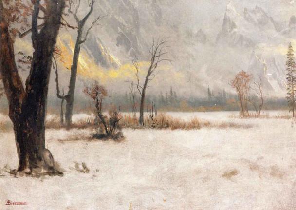 Winter Landscape By Albert Bierstadt By Albert Bierstadt