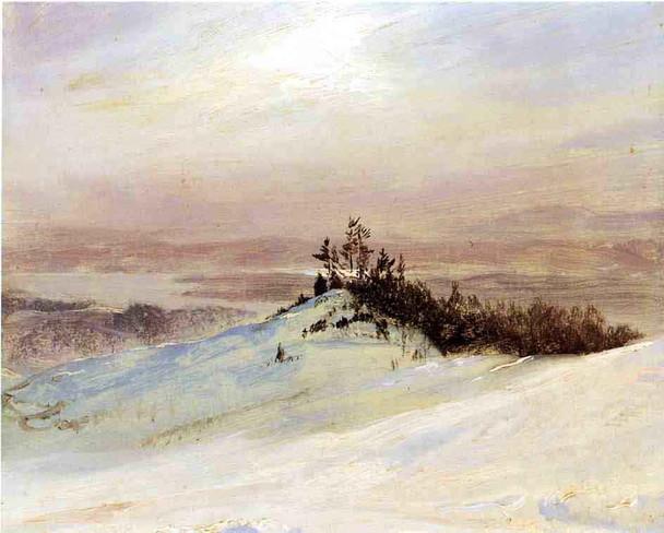 Winter On The Hudson River Near Catskill, New York1 By Frederic Edwin Church By Frederic Edwin Church